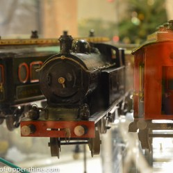 Obernai Christmas market - old trains for collectors