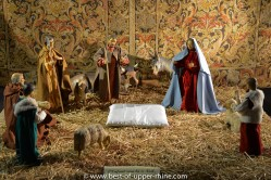 Nativity scene in the romanesque church of St Peter and Paul in Rosheim, Alsace