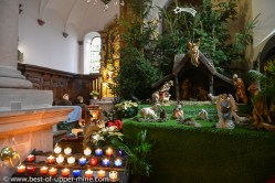 Nativity scene in the church of the Mount St Odile monastry