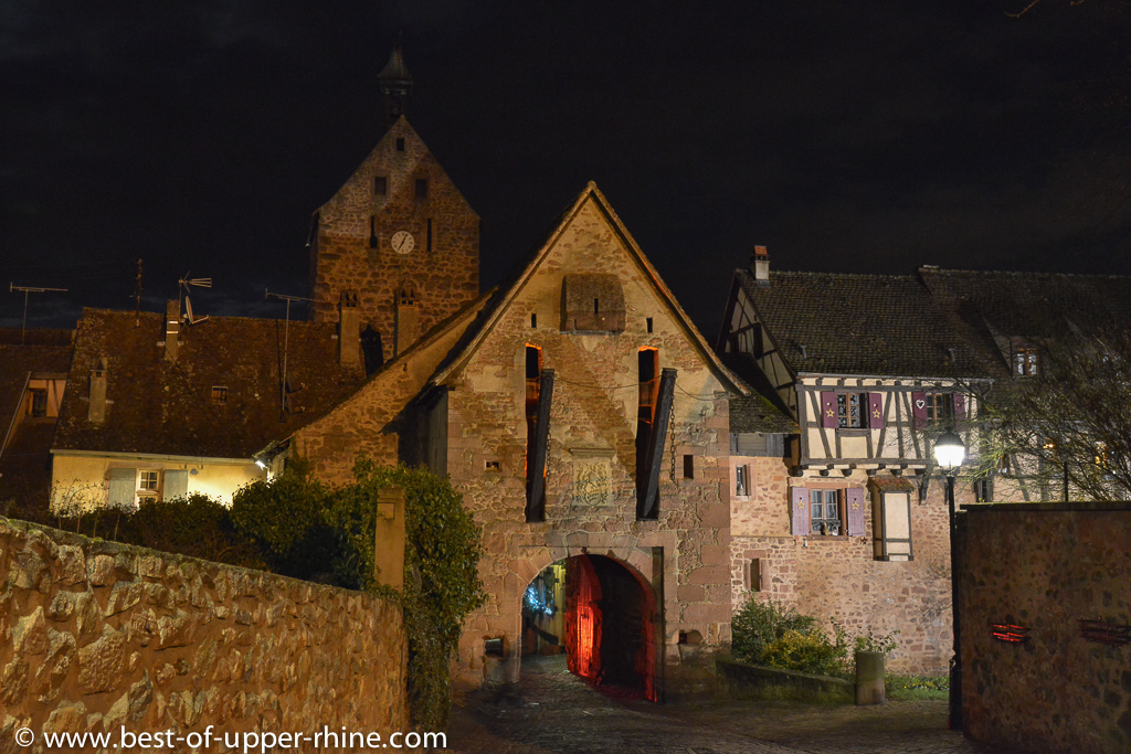 Fortified gate of the western ramparts in Riquewihr