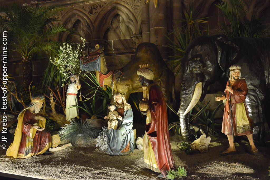 Nativity scene - cathedral of Strasbourg.