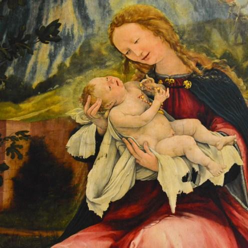 Virgin Maria with Baby Jesus - Retable d'Issenheim