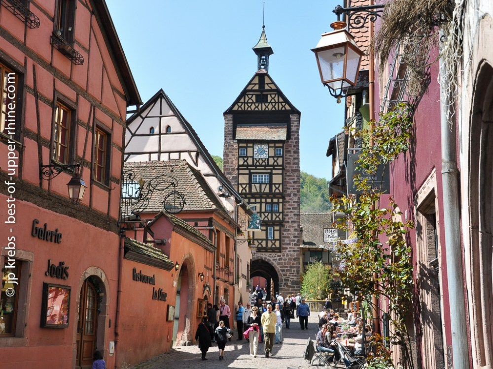 Main street of Riquewihr in the early Spring