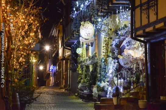 Riquewihr - Upper part of the rue des Remparts