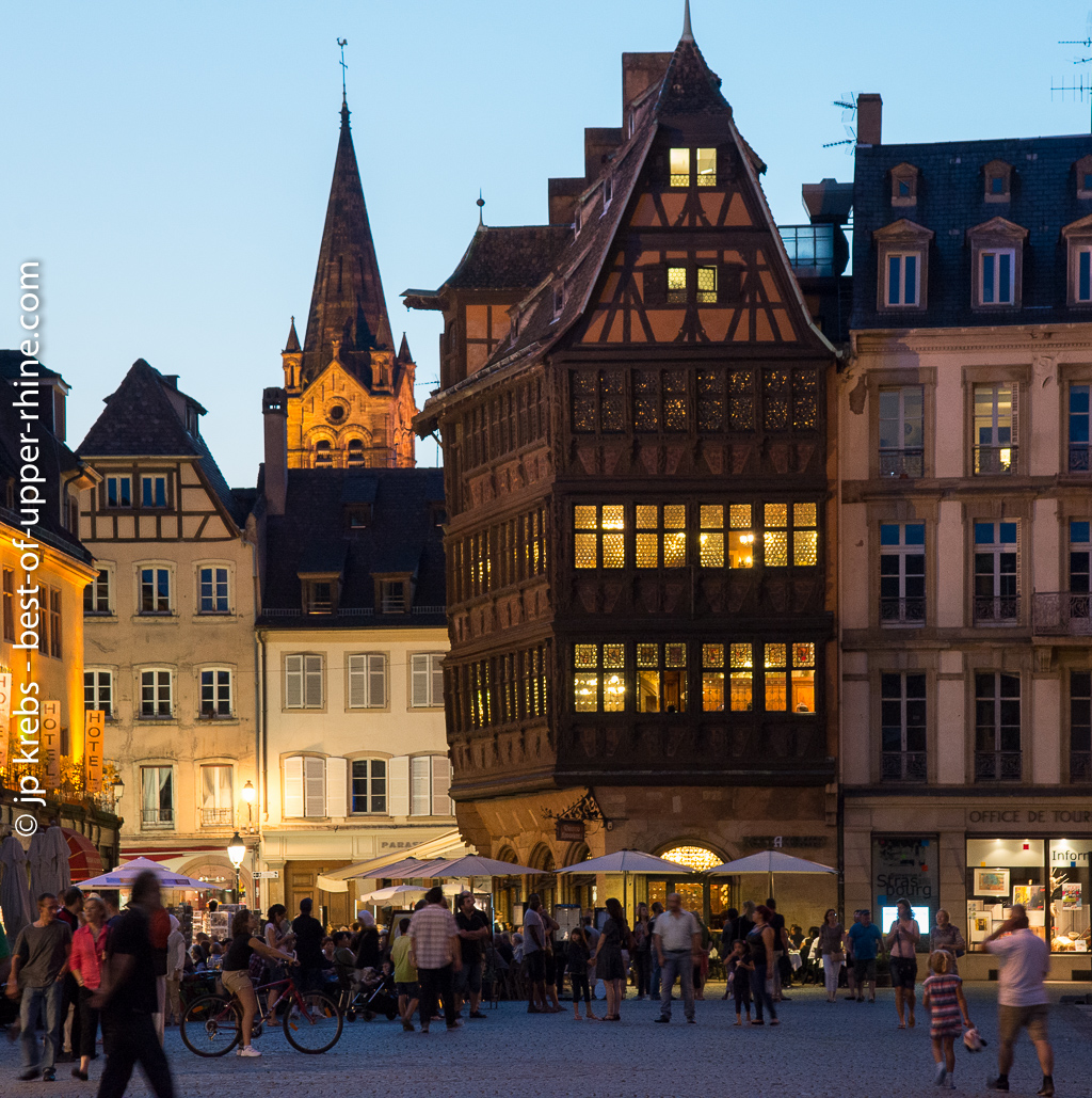 The famous Kammerzell house near the cathedral of Strasbourg.