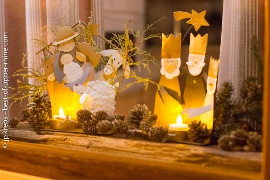 Nativity scene in Bergheim Alsace