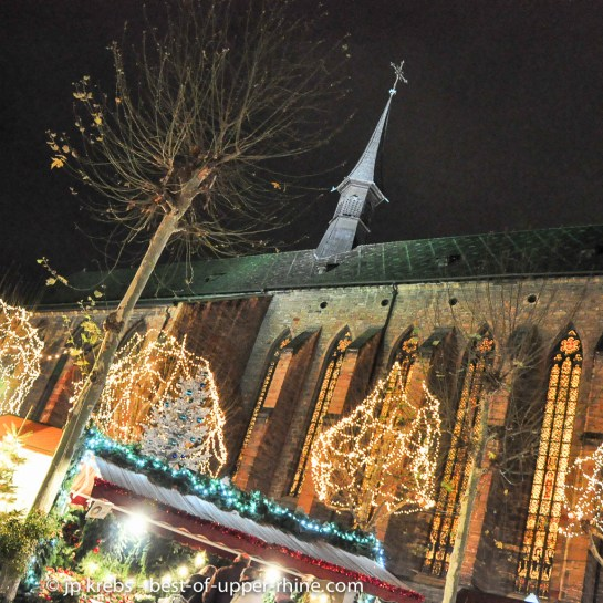 Christmas market at the church of Dominicans in Colmar, Alsace