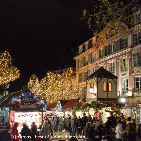 Christmas market at the Jeanne d'Arc's square