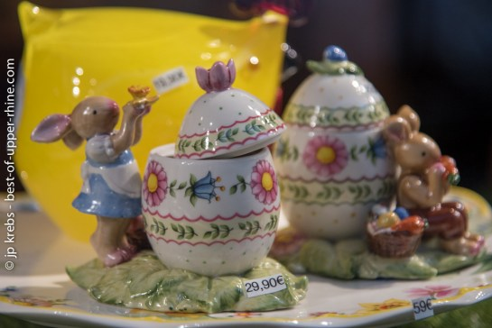 Easter Bunnies by Villeroy & Boch in Strasbourg.