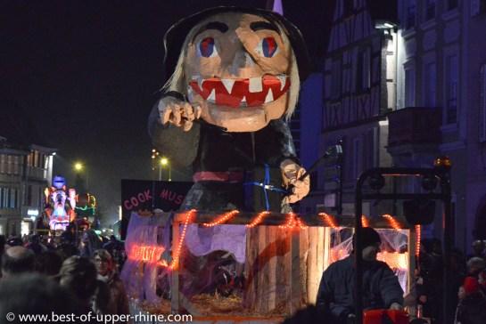 Carnival night parade in Sélestat, Alsace