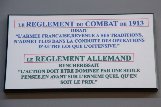 Battle philosophy of both French and German armies 100 years ago