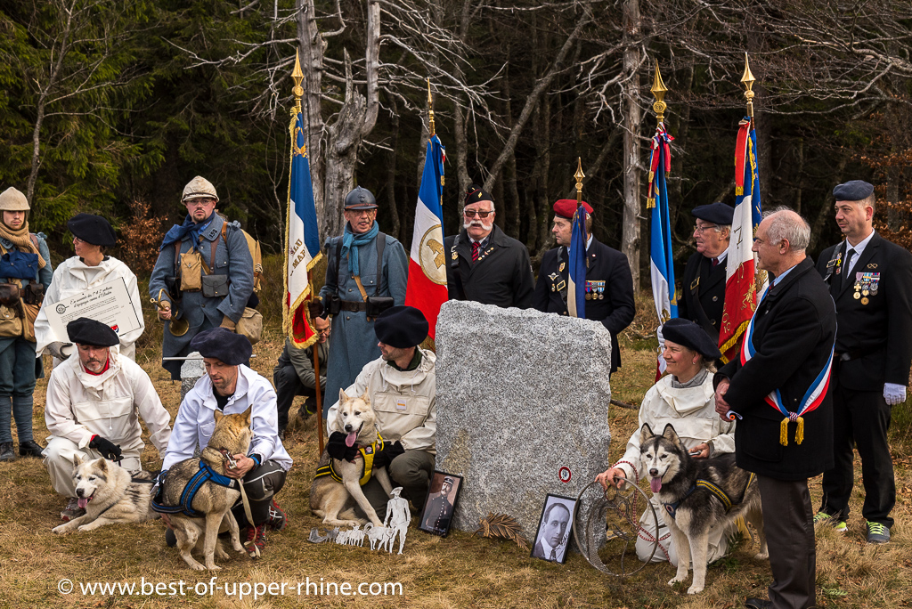100 years Commemoration in the Vosges mountain at the former Breitfirst kennel site 20 Dec 2015