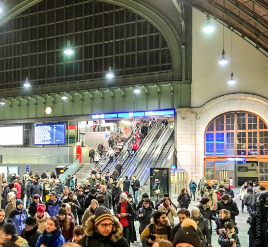 Train station Basel at 3:00 AM - Carnival 15FEB2016