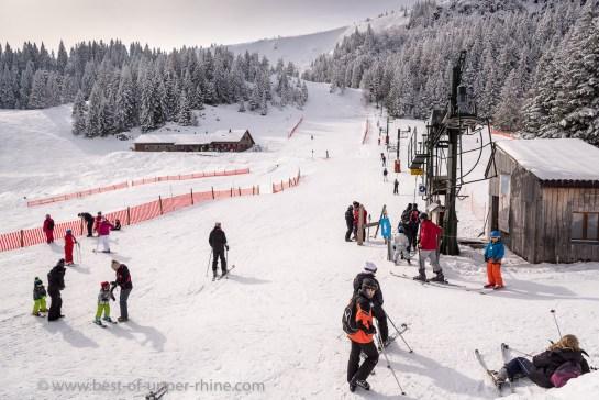 Le Tanet ski resort, Alsace, Vosges