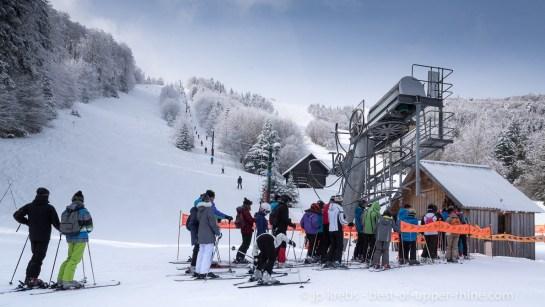 Schnepfenried ski resort, Alsace, Vosges