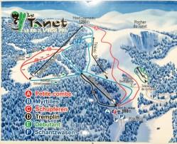 Map of Le Tanet ski resort