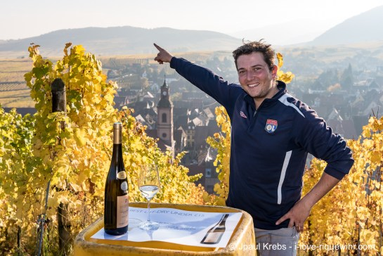 Young winemaker Charles Sparr earned a Platinum Award Best in Show by Decanter for his Riesling Schoenenbourg 2013