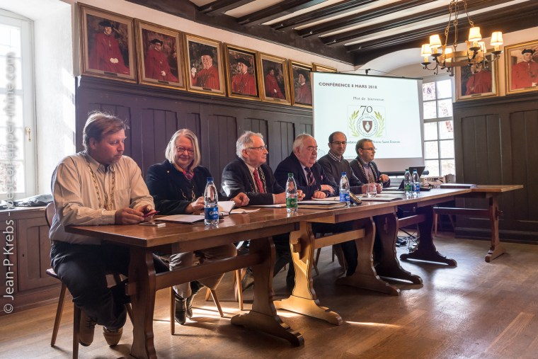 Press conference at the St Stephen's Brotherhood of Alsace