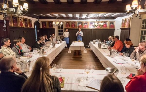 Workshop pairing wine and food at St Etienne Brotherhood