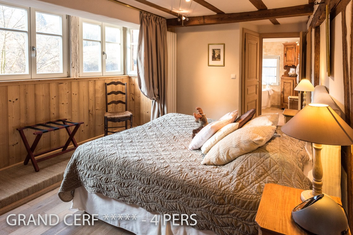 One on the two bedroom of the Alsatian Hart, Outstanding Luxury Gite in Riquewihr in Alsace on the Alsace Wine Route!