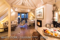 The living room of the White Stork, Spectacular and romantic loft apartment with terrace in Riquewihr in Alsace on the Alsace Wine Route!
