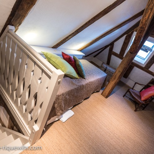 The under-roof bedroom of the Lucky Dragon, Luxury Family Gite, ideal for a family of 2 adults + children.