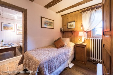 The extra bedroom of the Lucky Dragon, Luxury Family Gite on the Alsace Wine Route in Riquewihr, ideal for a family of 2 adults + children.