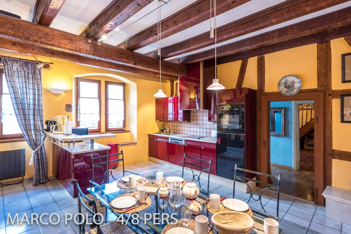 The spacious kitchen in Marco-Polo, Sumptuous and spacious holiday home in Riquewihr for 6 persons