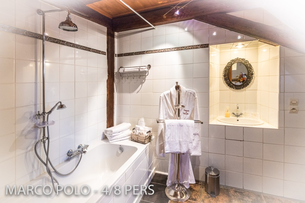 The bathroom in Marco-Polo, Sumptuous and spacious holiday home in Riquewihr for 6 persons