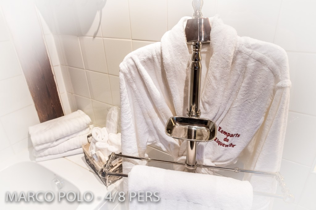 The bathrobe and bathroom equipment in Marco-Polo, Sumptuous and spacious holiday home in Riquewihr for 6 persons