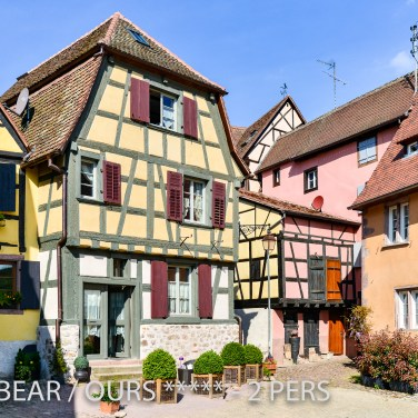 The outside area of the Little Bear, romantic and charming apartment for 2 persons in Riquewihr in Alsace