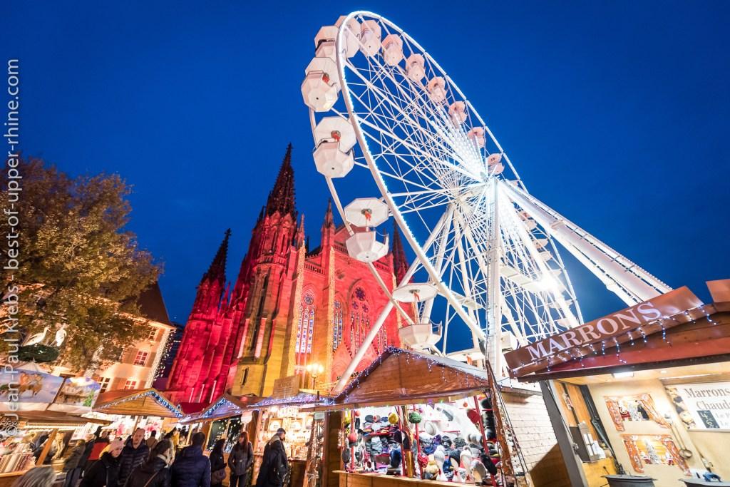 Ferris wheelin Mulhouse Christmas Market