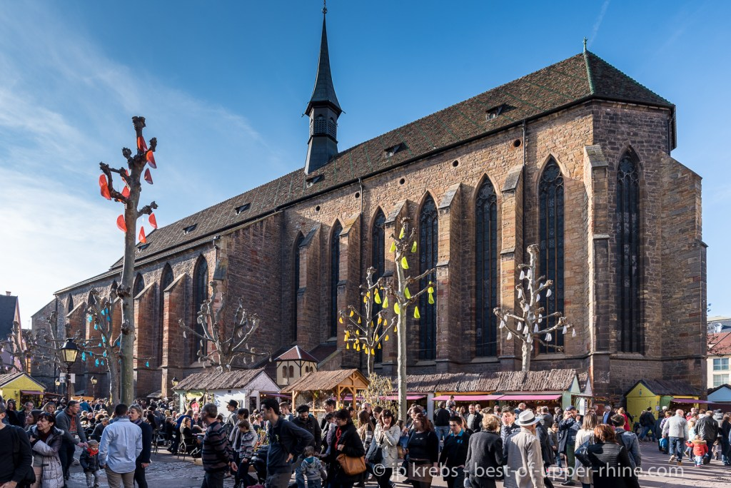 Easter market of the Dominican Square in Colmar