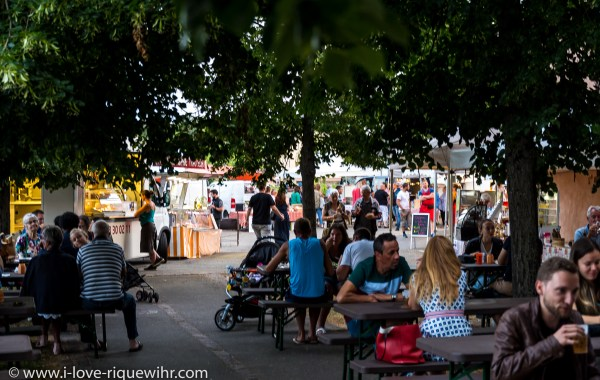 Small market of local specialities in Riquewihr, every Tuesday evening in July and August
