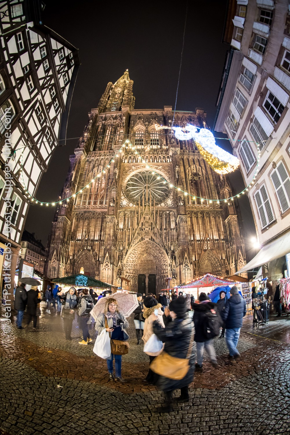 The Christmas market near the cathedral of Strasbourg, Alsace, dates back to 1570.