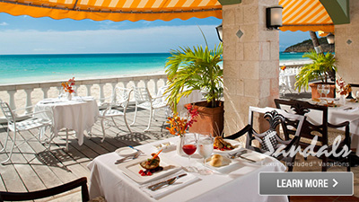 Sandals Antigua best restaurants