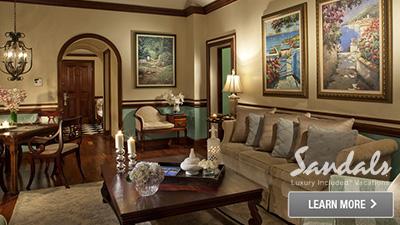 Sandals Royal Plantation bedroom suite