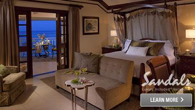 Caribbean honeymoon suites