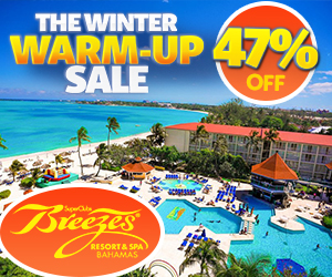 breezes winter warm-up sale travel