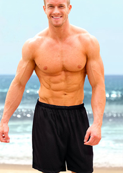 mens tan through shorts