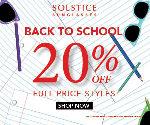 solstice sunglasses back to school sale