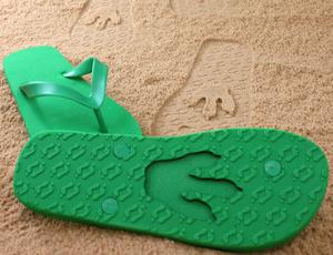 FlipSidez sand print flip flops animals