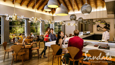 sandals grande st lucian best place to eat