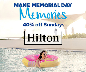 hilton memorial day weekend vacation sale