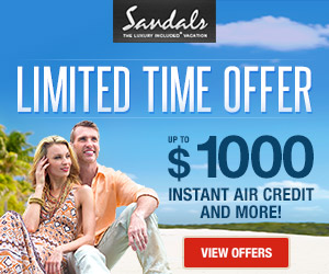 sandals best online travel deals