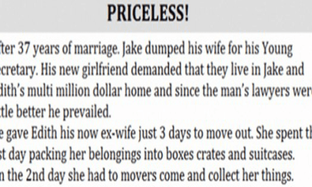after 37 years of marriage husband dumps his wife for his secretary what she does when he demands the family home is priceless hangover cure - After 37 Years Of Marriage, Husband Dumps His Wife For His Secretary. What She Does When He Demands The Family Home Is Priceless! – Hangover Cure
