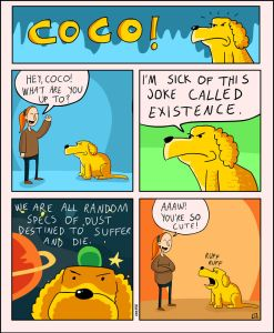 coco the dog ozan draws comics 13 5a38c8db10ca0 png  700 247x300 - 17 Hilariously Pessimistic Comics About Coco The Jolly Dog That Every Pessimist Will Relate To