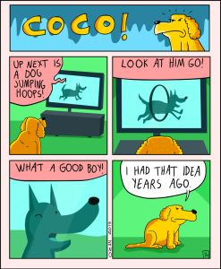coco the dog ozan draws comics 14 5a38c8e035a34 png  700 247x300 - 17 Hilariously Pessimistic Comics About Coco The Jolly Dog That Every Pessimist Will Relate To