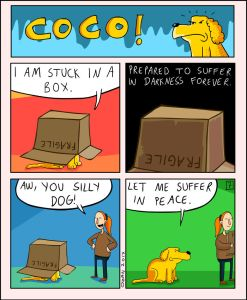 coco the dog ozan draws comics 17 5a38c8f0ae26a png  700 247x300 - 17 Hilariously Pessimistic Comics About Coco The Jolly Dog That Every Pessimist Will Relate To