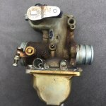 honda-cb350-4-carburettor before ultrasonic cleaning